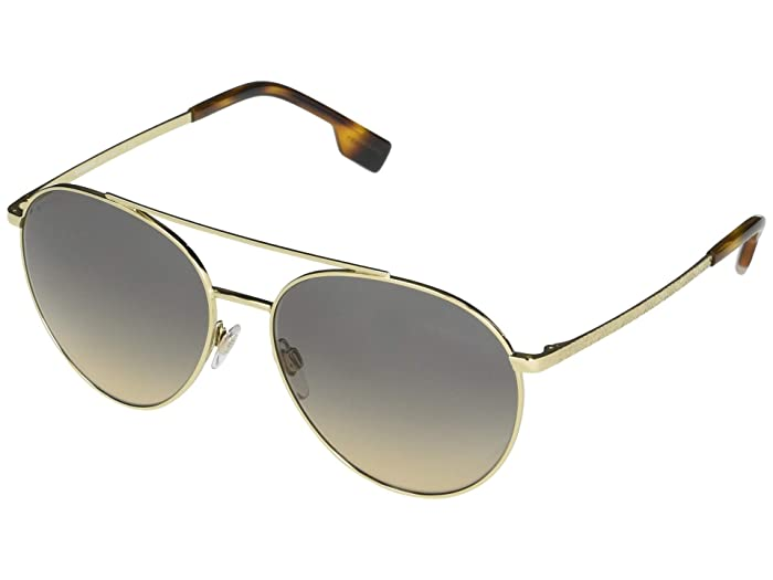 Burberry  0BE3115 (Pale Gold/Light Brown/Gradient Grey) Fashion Sunglasses