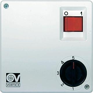 Vortice SCNR5 5channels Blanco Controlador de Velocidad de Ventilador - Ventilador para Caja de Ordenador (5 Canales, Blanco, Botones, Giratorio)