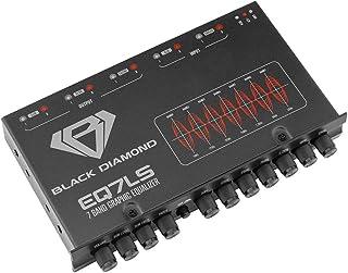 $38 » Black Diamond EQ7LS 7 1/2 DIN 7-Band Pre Amp Equalizer Car Audio EQ w/Front Rear + Sub Output