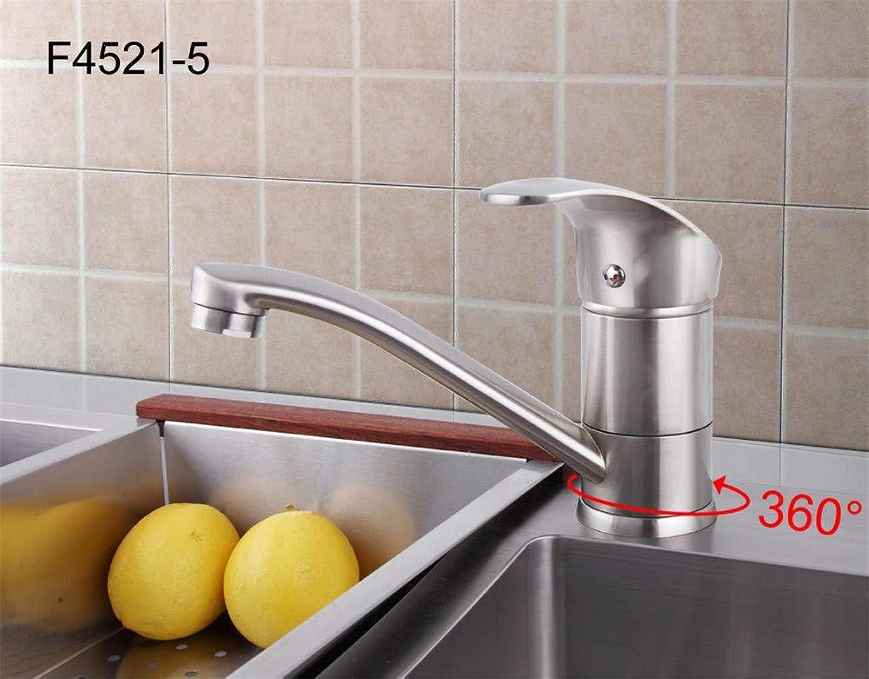 F4521-5 & F4921-5 Küchenarmatur, schwenkbar, gebürstetes Nickel, 14cm, f4521-5