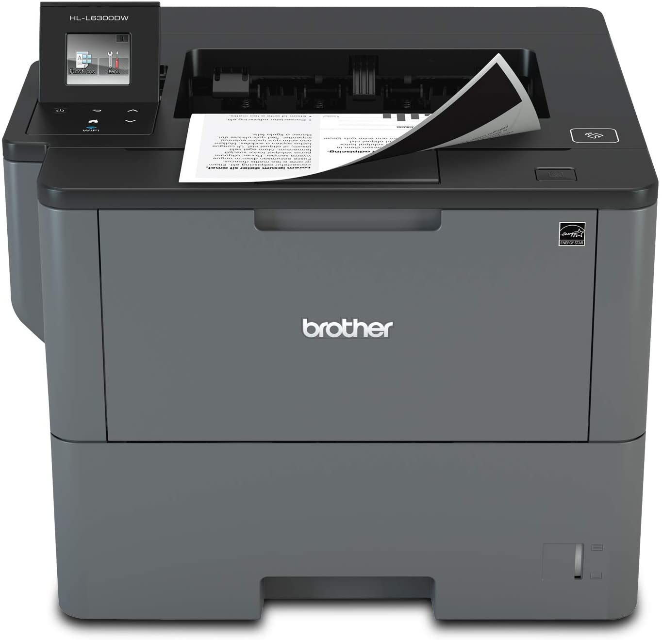 Brother Monochrome Laser Printer, HL-L6300DW, Wireless Networking, Mobile Printing, Duplex Printing, Large Paper Capacity, Cloud Printing, Amazon Dash Replenishment Ready