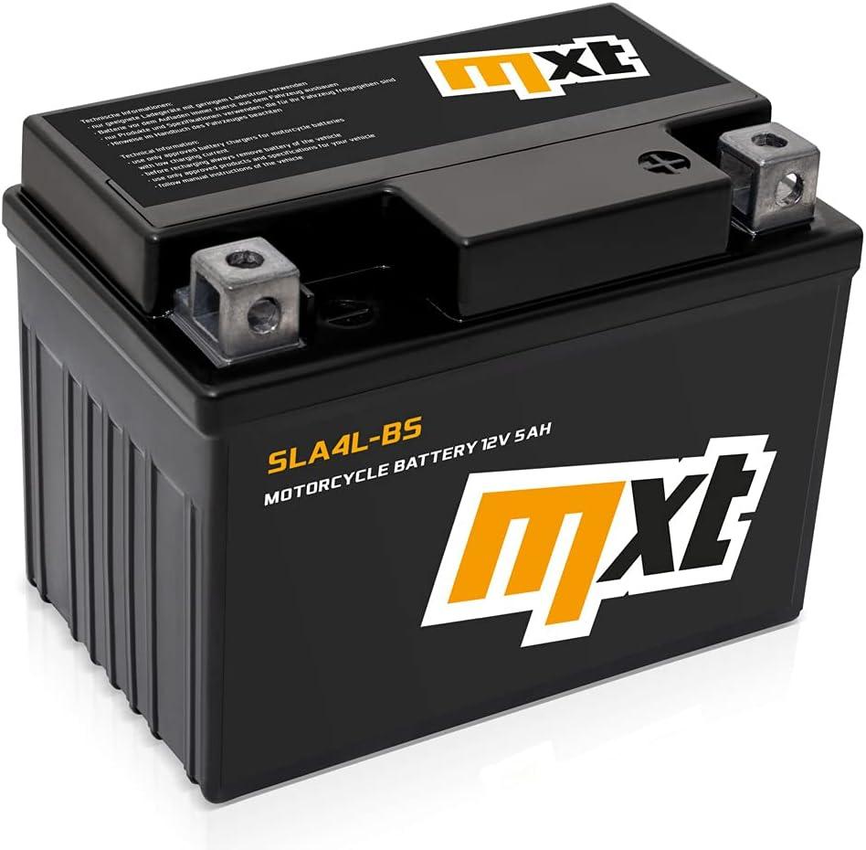 Maxtuned SLA4L-BS 12V 5Ah Scooter Batería de arranque (Sin necesidad de mantenimiento/Sellado) parecido a YTX5L-BS YB4L-B YTX4-BS