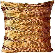 Handmade Gold Cushions Cover, Modern Decorative Throw Pillow Covers, Cushion Covers 30 x30, Satin Square Throw Pillows Cov...