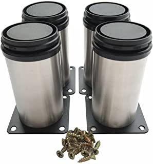 Bqlzr Stainless Steel Kitchen Adjustable Feet Round