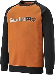 Timberland Pro Mens Honcho Sport Raglan Sweatshirt Orange/Black