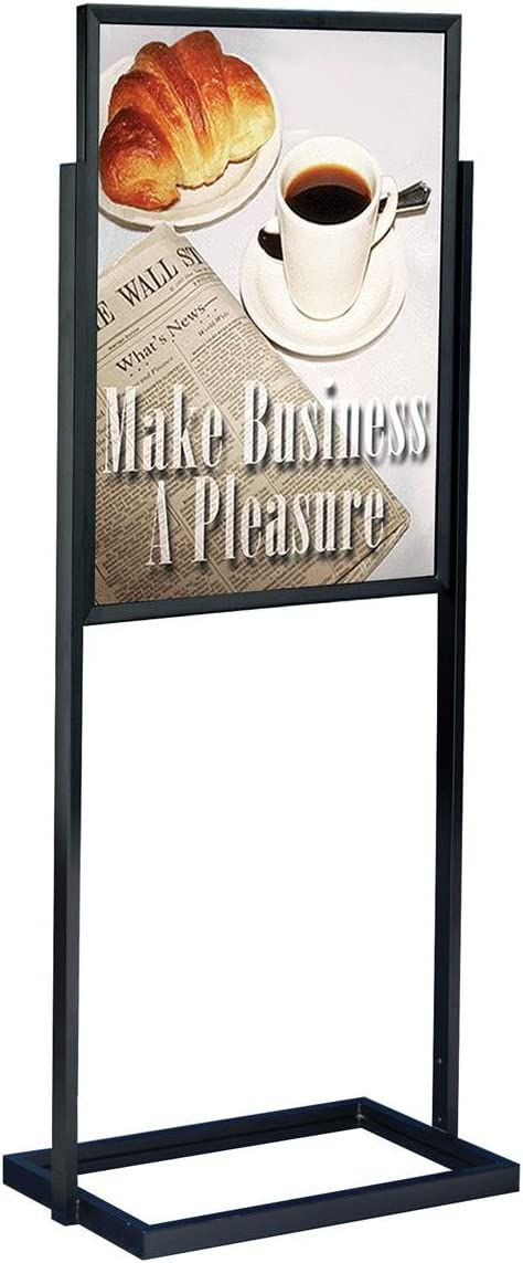 Sign Holder Stand for Floor Includes 2 Top-Loading Design with 豪華な 売り込み