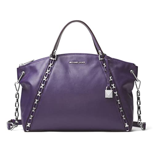 8eee54b5fc55 MICHAEL Michael Kors Sadie Leather Large Top Zip Satchel in Iris