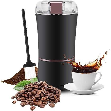 Molinillo de café eléctrico, profesional 400W / 3 onzas Máquina de molinillo de molinillo de café eléctrico, grado de molienda ajustable con cuchilla ...