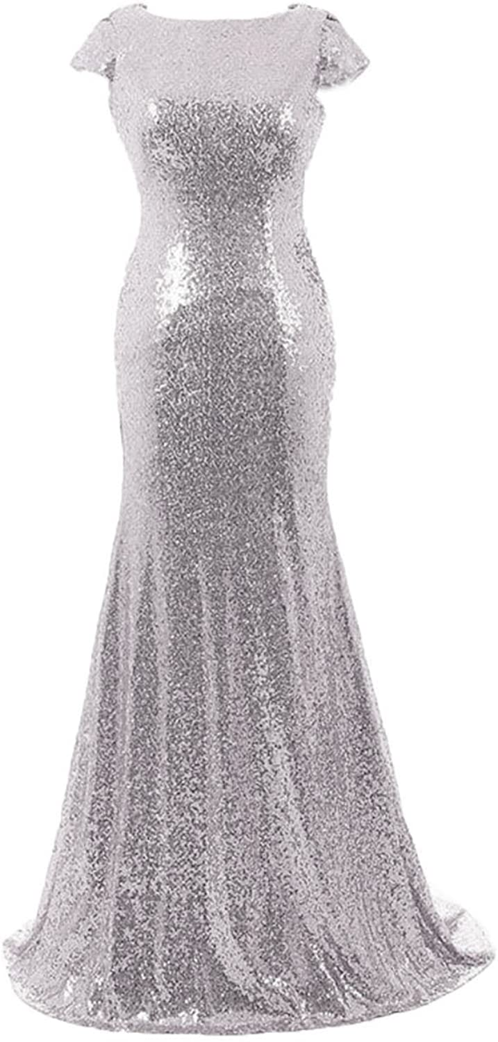 Cdress Long Bridesmaid Dresses Sequins Prom Party Dress Wedding Formal Evening Gowns