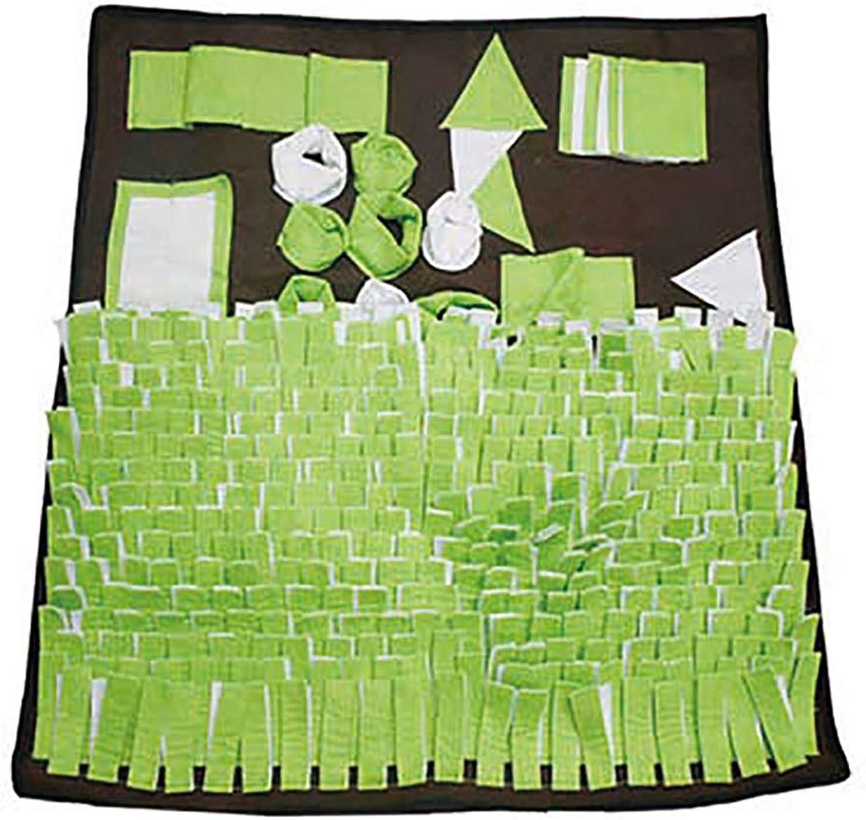 FXQIN Dog Snuffle Mat, Foldable Dog Feeding Pad Soft Pet Training Feeding Foraging Skill Blanket Dog Play Mats Puzzle Toys (80 x 80 cm)