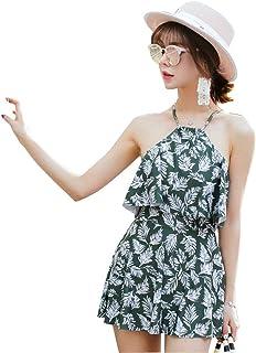 水着 レディース ビキニ 体型カバー 可愛い セクシー 水泳 海水浴 花柄 ハイネック パンツ付き ツーピース ショートパンツ UVカット 大きいサイズ バンドゥビキニ タンキニ ワイヤービキニ フィットネス 大人