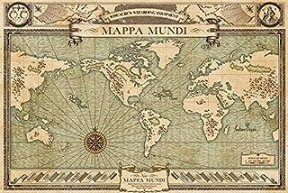 "Pyramid International ""Mappa Mundi Fantastic Beasts Maxi Poster, Multi-Colour, 61 x 91.5 x 1.3 cm"