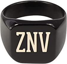 Molandra Products ZNV - Adult Initials Stainless Steel Ring