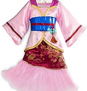 DISNEY STORE PRINCESS MULAN KIMONO COSTUME DRESS GIRLS PINK - 2016 (11/12)