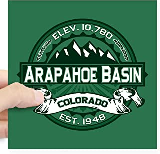 CafePress Arapahoe Basin Forest Square Sticker 3 X 3 Square Bumper Sticker Car Decal, 3