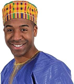 OMAQA Kente Kufi Hat Style #1: Cap African Print | Fashion Unisex Cap (Multicolored)