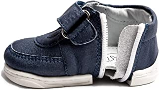 Happy Baby Zippy Shoes, Infant/Toddler, Boys Girls, First Walking Shoes, Unique Zipper Design (Age 12-24 Months (5.2 inches, US Size 5), Sneakers Blue)