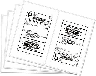 Half Sheet Laser & Inkjet - Rounded Corner Shipping Address Labels - 5-1/2