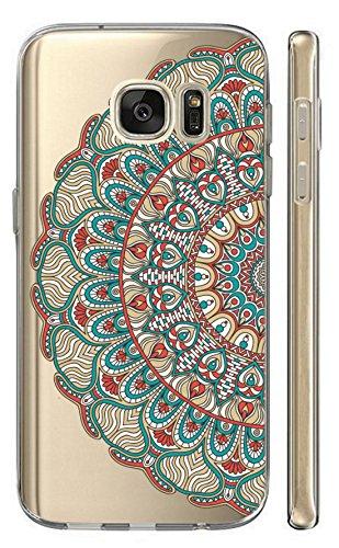 Hülle für Samsung Galaxy S7 G930F Softcase Cover Backkover TPU Schutzhülle Slim Case (2493 halbes Mandala)