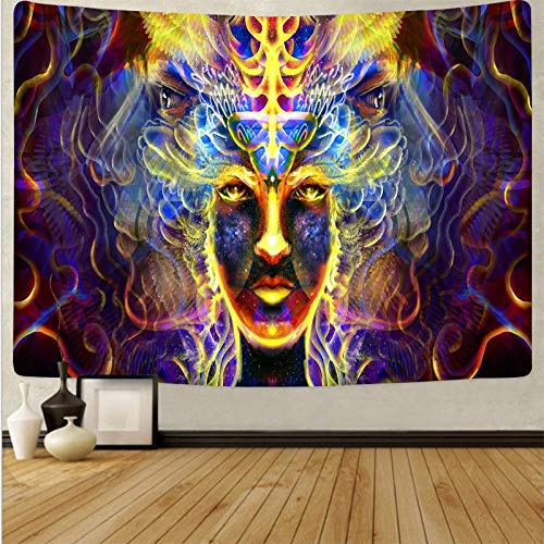 KHKJ Tela Colgante de Arte psicodélico decoración del hogar tapices Dormitorio decoración de Dormitorio Tela de Fondo Abstracto A13 95x73cm