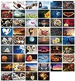 52 Postkarten für Hochzeit Postkartenspiel, Hochzeitsspiel Liebe Postkarten Set Hochzeitsgeschenke Hochzeits-Postkarten, Clever Pool -...