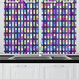 Cortinas opacas con ojales de moda, arte creativo, medicina, cápsula, cortinas oscuras para dormitorio, cortinas para sala de estar, para café, baño, lavandería, sala de estar, 26 x 39 pulgadas, 66 x