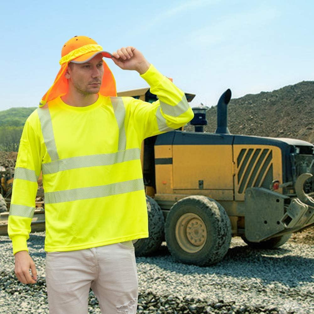 3XL, Orange AYKRM T-Shirt de Protection de s/écurit/é avec Avertissement