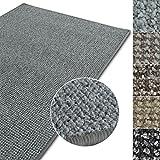 casa pura Kurzflor Teppich Carlton | Flachgewebe dezent Gemustert | robuster Schlingenteppich in vielen Größen | als Wohnzimmerteppich, Küchenteppich, Schlafzimmerteppich (Hellgrau - 200x300 cm)