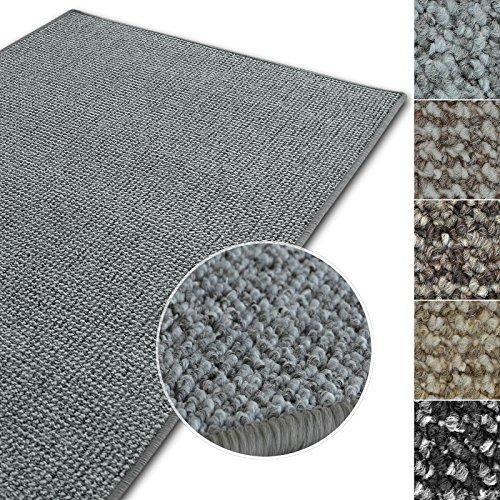 casa pura Kurzflor Teppich Carlton | Flachgewebe dezent Gemustert | robuster Schlingenteppich in vielen Größen | als Wohnzimmerteppich, Küchenteppich, Schlafzimmerteppich (Hellgrau - 160x230 cm)
