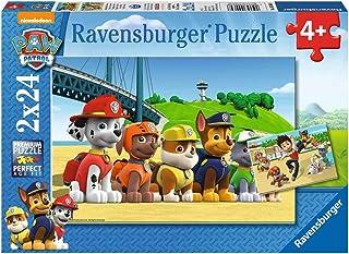 Ravensburger 90648 Puzzel Paw Patrol Dappere Honden - Twee Puzzels - 24 Stukjes - Kinderpuzzel