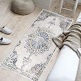 YX-lle Home Alfombra de pasillo suave al tacto, pequeña a grande, alfombra de salón, dormitorio, pasillo, cocina, puerta delantera (retro, europea, 60 x 180 cm)