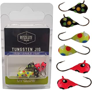 Resolute Tackle 6-Pack Tungsten Jig