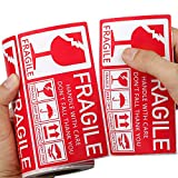 Methdic Fragile Stickers for Shipping 130x70mm Large Roll (Handle with Care Do Not Fall,Thank You) 250/Roll