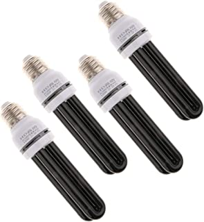 Baosity 4X 220V UV Black Light Bulb Effect Lighting for Discos Bars Theaters Clubs Partys Straight Type - 15W