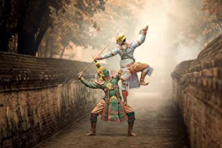 Dancing Masked Khon TOS Sa Kan Hanuman Thailand Photo Art Print Cool Huge Large Giant Poster Art 54x36