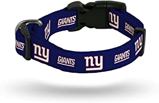 Rico New York Giants NFL (Small Adjustable 9-14 inch) Nylon Pet Dog Collar