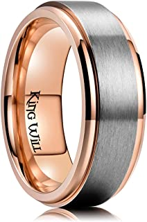 King Will 8mm Titanium Spinner Ring for Men High Polished Comfort Fit Ring