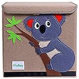 TruReey Caja de Almacenamiento Plegable con Tapa Juguete Plegable Lona Caja Organizador Caja de Almacenamiento de Juguetes Plegable 33 x 33 x 33 cm (Koala)
