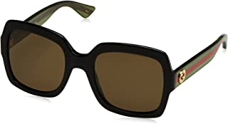 Gucci 0036S Square Sunglasses Lens Category 3 Size 54mm (Black, Brown)