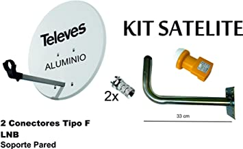 Kit Antena PARABOLICA 63cm Aluminio TELEVES + Soporte a