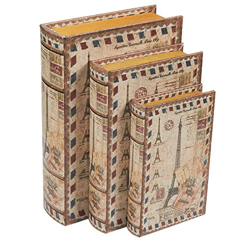 Buch Boxen, 3verschiedene Größe/Set Eiffel Tower Design