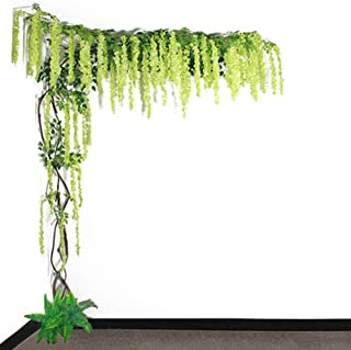Large Artificial Flowering Tree Plant, Artificial Wisteria Tree Trees Garden Plants for Wedding Event Indoor Outdoor Party...