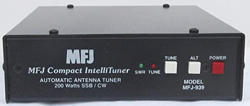 MFJ-939A HF 1.8-30MHz Automatic Antenna Tuner for Alinco Radios, 200W Max, Includes Interface Cable