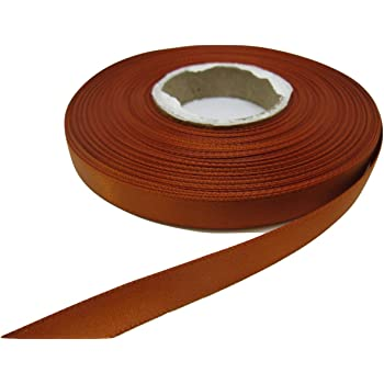 Beautiful Ribbon 1 Rouleau de Ruban de Satin de 10mm x 25 m/ètres Cuivre Or fonc/é Double Face 10 mm 1cm
