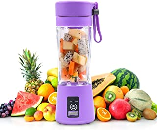 KKMOL Mixeur portable rechargeable par USB - Petit mixeur de fruits - Presse-agrumes électrique - Bidon de 380 ml - Violet