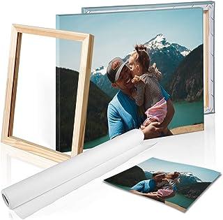 comprar comparacion DON LETRA Cuadro en Lienzo Personalizado con tu Foto o Imagen, 50 x 40 cm, Varias Medidas, Impresión en Lienzo, Enmarcado ...