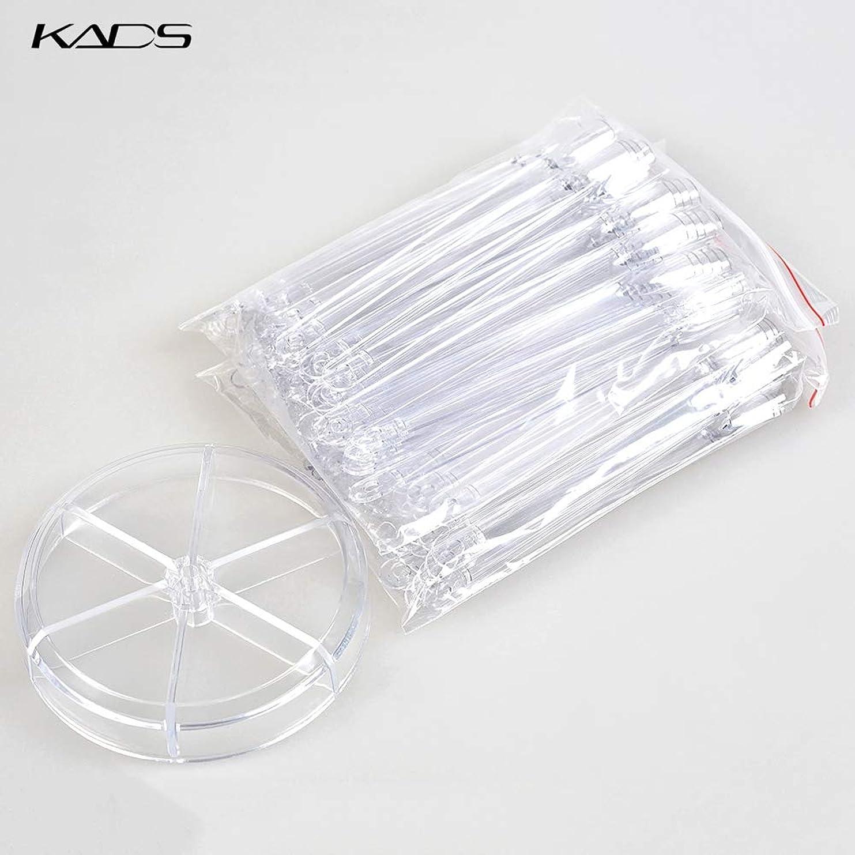 胴体病的慣性KADS ネイルカラーチャート スティックチップ ディスプレー用 練習 120枚 (クリア)