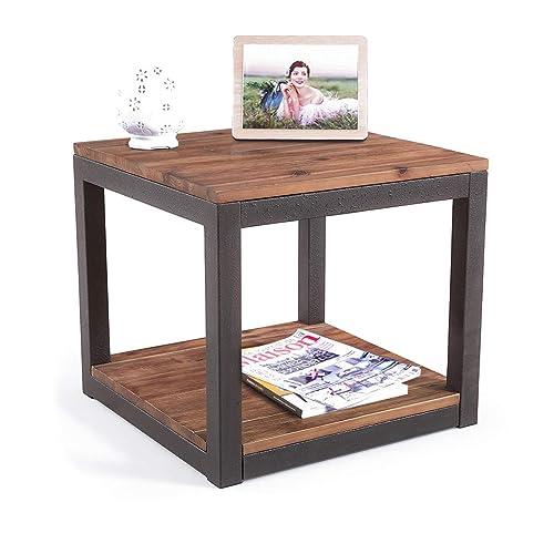Rustic Wood End Table Amazon Com