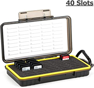 Massive 40 Slots Professional SD SDHC SDXC Card Case Holder Memory Card Storage Organizer Water-Resistant Anti-Shock Prote...