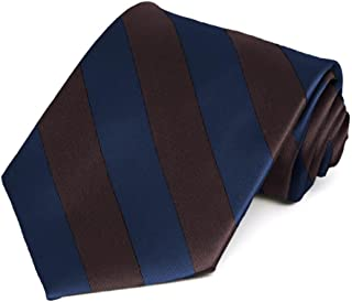 navy blue and brown tie